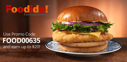 Foodida Promo Code: FOOD00635 and earn up to $20 on your first drive!