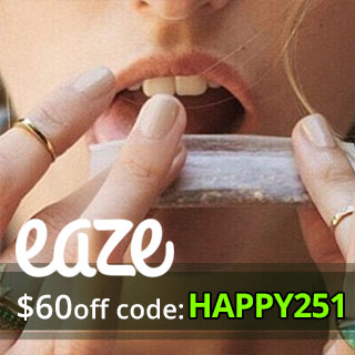Use our Eaze Up Promo Codes 2017 and get $60 off you marijuana order!