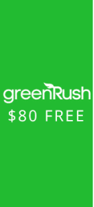 Weed Delivery service GreenRush will give you $80 with promo code HAPPY80
