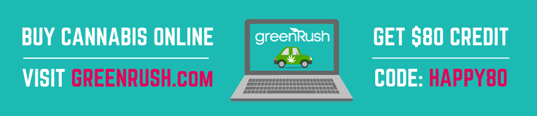 GreenRush Marijuana Marketplace: Buy Cannabis Online, plus get $80 in free weed with code HAPPY80