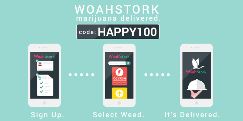 WoahStork Promo Codes : Get free marijuana