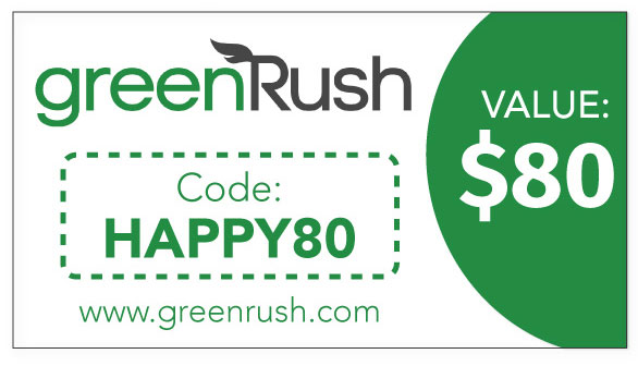 GreenRush Weed Delivery Sacramento: Use code HAPPY80 for $80 off at Sacramento Cannabis Dispensaries!