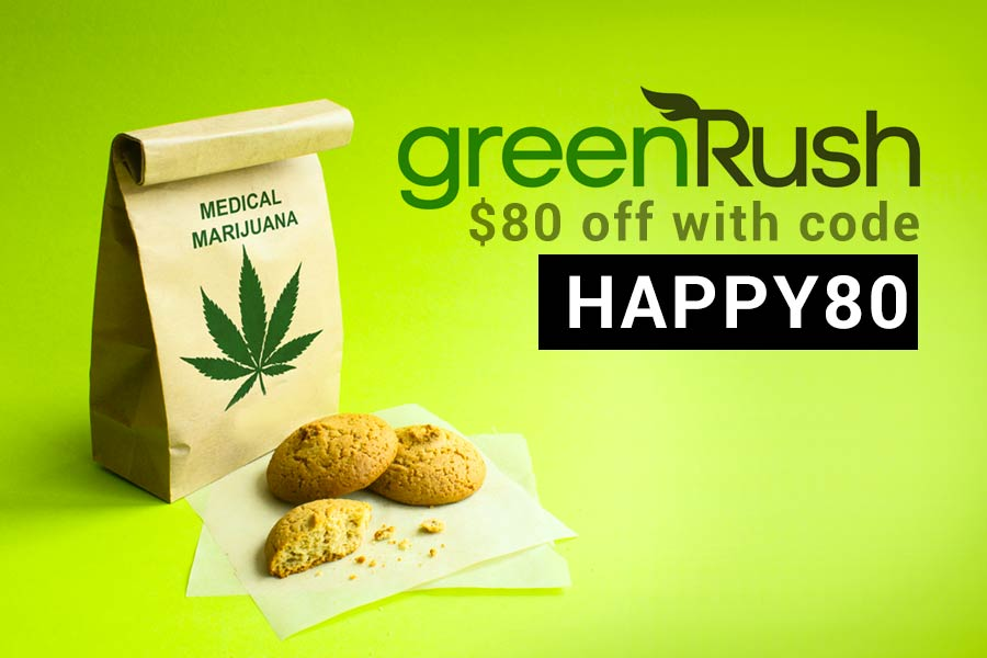 Our GreenRush Weed Delivery Promo Codes get you $80 off