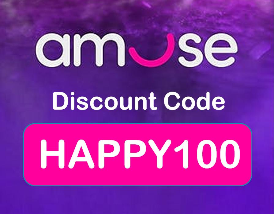 Amuse Discount Code: HAPPY100