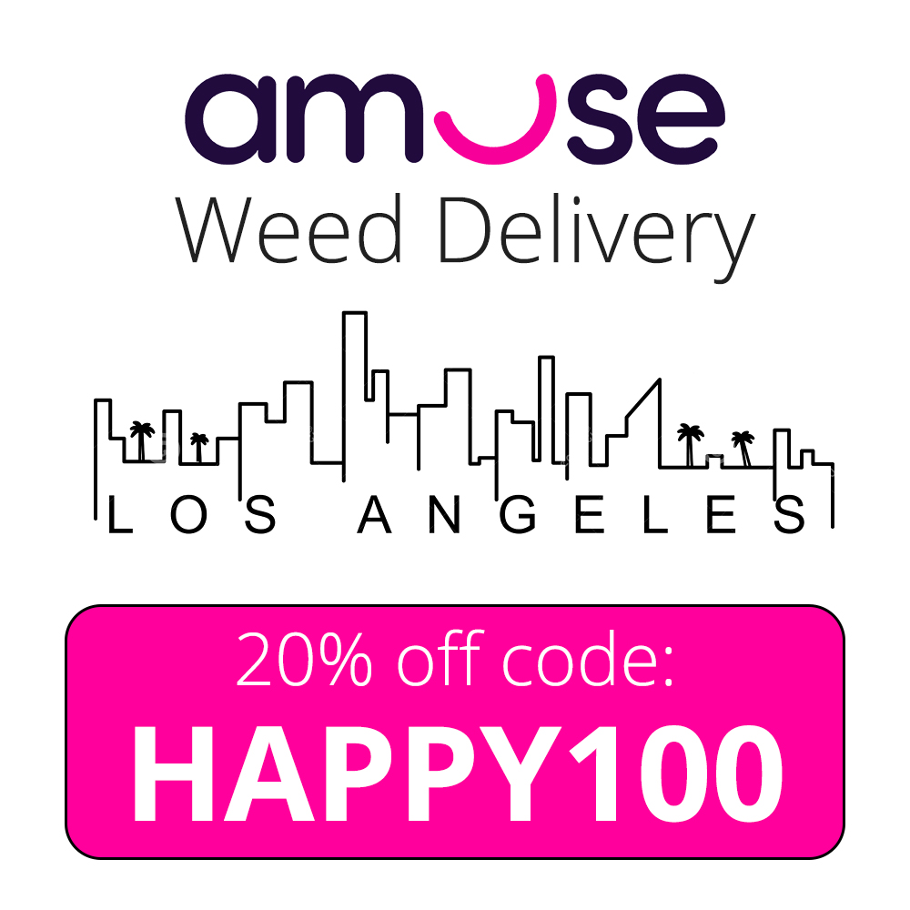Amuse Weed Delivery Promo Code for Los Angeles: HAPPY100