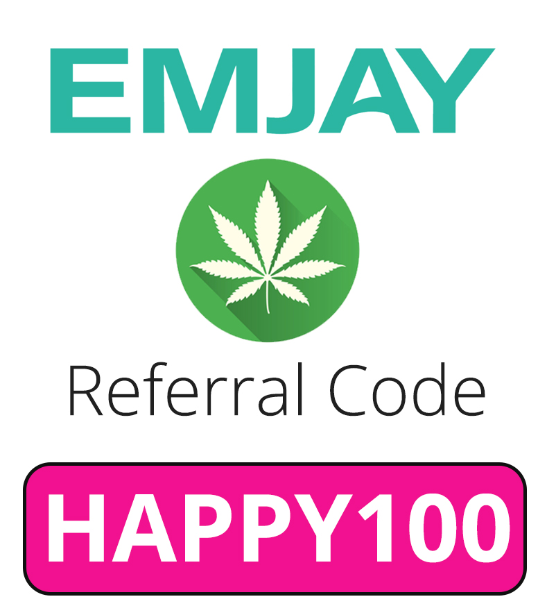 Emjay Referral Code   Free weed with code: HAPPY100